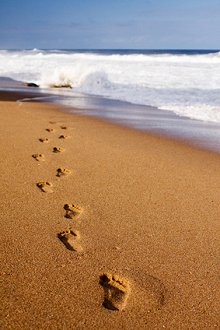 Library Image: Footsteps in Sand