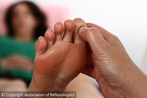 Reflexology. lady reflex
